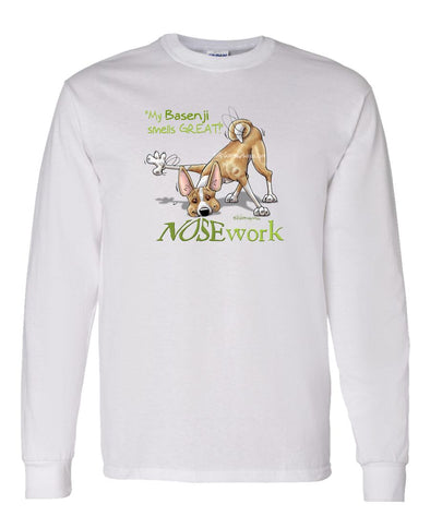 Basenji - Nosework - Long Sleeve T-Shirt