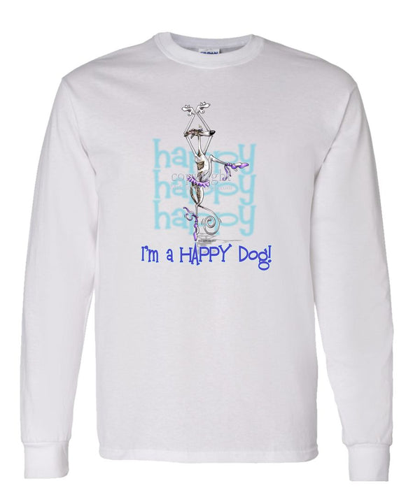 Whippet - 2 - Who's A Happy Dog - Long Sleeve T-Shirt