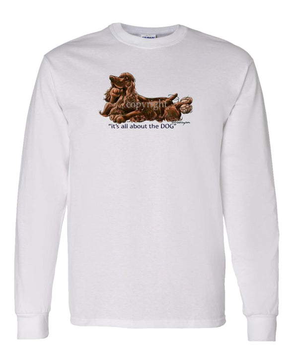 Field Spaniel - All About The Dog - Long Sleeve T-Shirt
