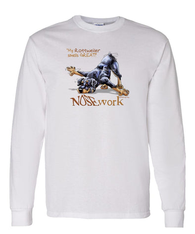 Rottweiler - Nosework - Long Sleeve T-Shirt