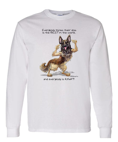Belgian Tervuren - Best Dog in the World - Long Sleeve T-Shirt