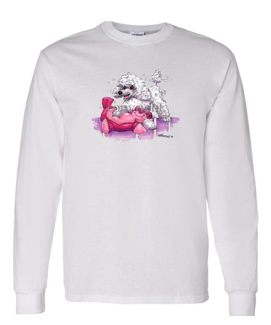 Poodle  Toy White - Caricature - Long Sleeve T-Shirt
