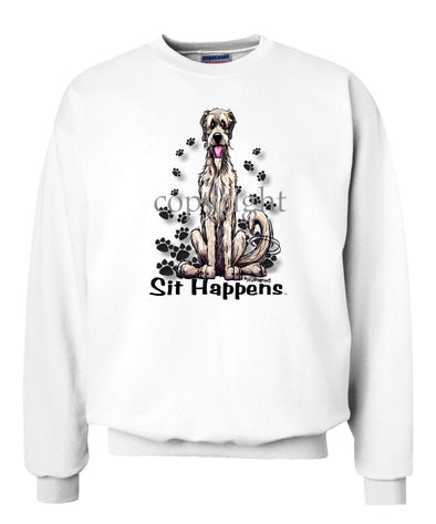 Irish Wolfhound - Sit Happens - Sweatshirt