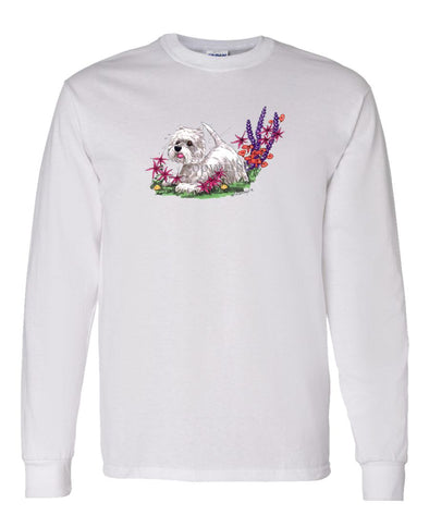 West Highland Terrier - Flowers - Caricature - Long Sleeve T-Shirt