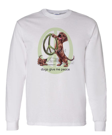 Dachshund  Smooth - Peace Dogs - Long Sleeve T-Shirt