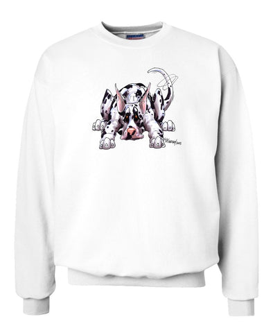 Great Dane  Harlequin - Rug Dog - Sweatshirt