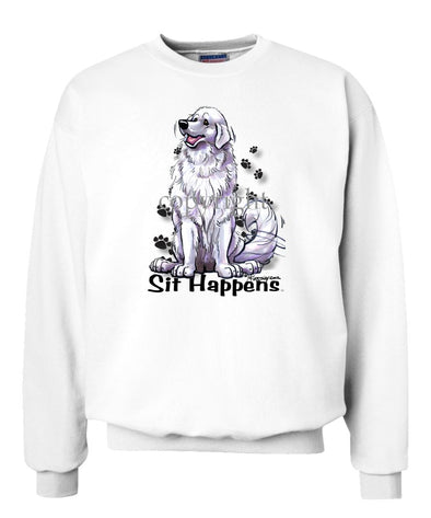 Great Pyrenees - Sit Happens - Sweatshirt