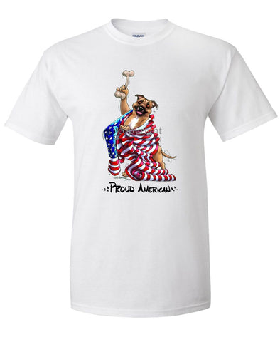 Staffordshire Bull Terrier - Proud American - T-Shirt