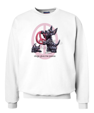 Scottish Terrier - Peace Dogs - Sweatshirt