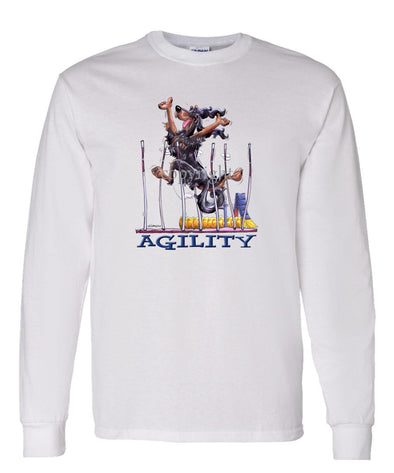 Gordon Setter - Agility Weave II - Long Sleeve T-Shirt