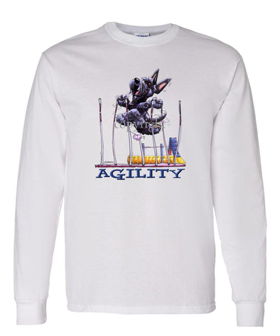 Scottish Terrier - Agility Weave II - Long Sleeve T-Shirt