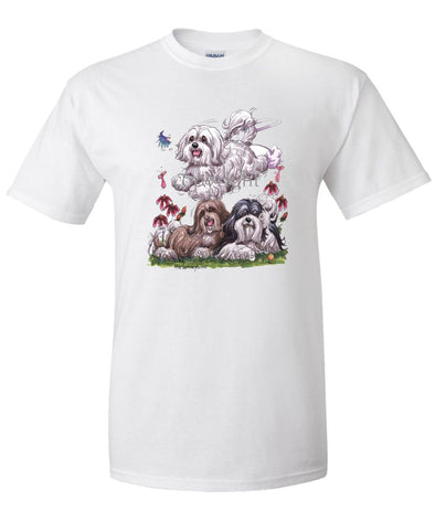 Havanese - Group - Caricature - T-Shirt