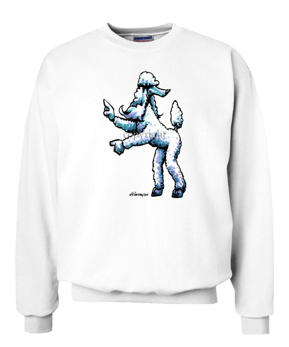 Poodle  White - Cool Dog - Sweatshirt
