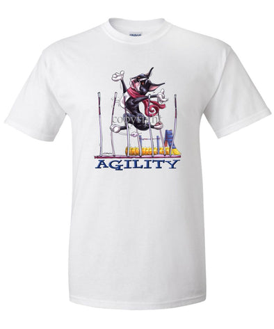 Boston Terrier - Agility Weave II - T-Shirt