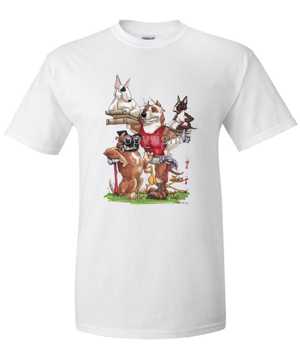 American Staffordshire Terrier - Group Construction - Caricature - T-Shirt