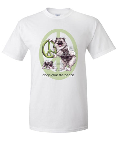 Keeshond - Peace Dogs - T-Shirt