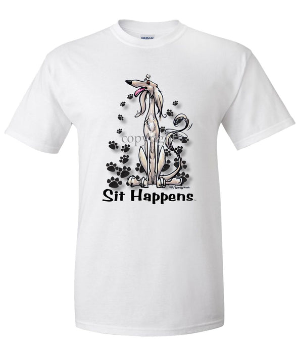 Saluki - Sit Happens - T-Shirt