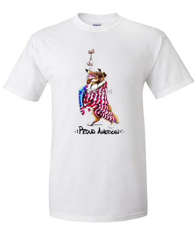 Collie - Proud American - T-Shirt