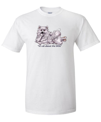 American Eskimo Dog - All About The Dog - T-Shirt