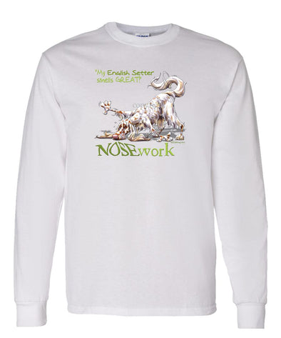 English Setter - Nosework - Long Sleeve T-Shirt