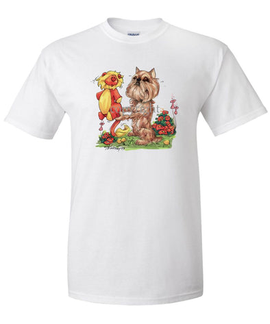 Brussels Griffon - Stuffed Lion - Caricature - T-Shirt