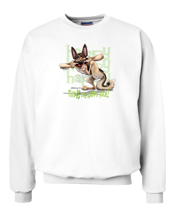 German Shepherd - 4 - Who's A Happy Dog - Sweatshirt