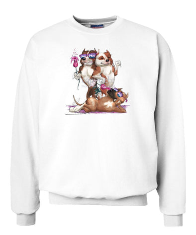 American Staffordshire Terrier - Group Trio - Caricature - Sweatshirt