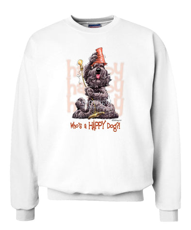 Bouvier Des Flandres - Who's A Happy Dog - Sweatshirt