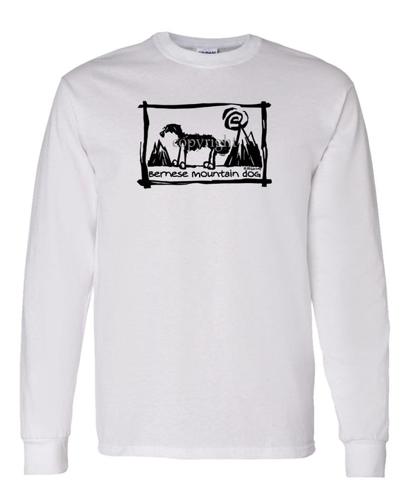 Bernese Mountain Dog - Cavern Canine - Long Sleeve T-Shirt