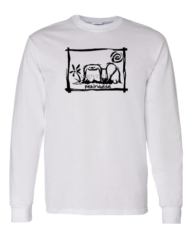 Pekingese - Cavern Canine - Long Sleeve T-Shirt