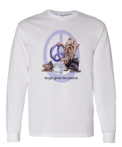 Yorkshire Terrier - Peace Dogs - Long Sleeve T-Shirt