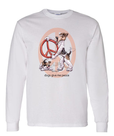 Wire Fox Terrier - Peace Dogs - Long Sleeve T-Shirt