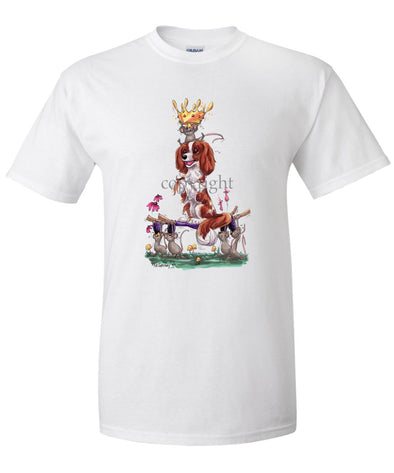 Cavalier King Charles - With Mice And Crown - Caricature - T-Shirt