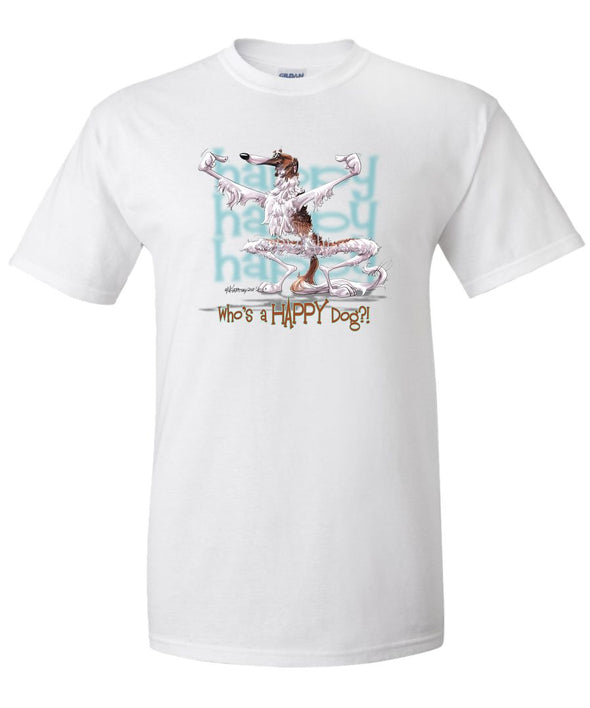 Borzoi - Who's A Happy Dog - T-Shirt