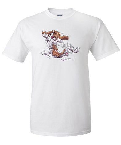 Cavalier King Charles  Blenheim - Happy Dog - T-Shirt