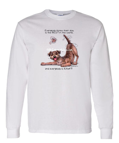 Border Terrier - Best Dog in the World - Long Sleeve T-Shirt
