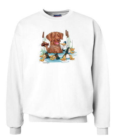 Chesapeake Bay Retriever - Duck Call - Caricature - Sweatshirt