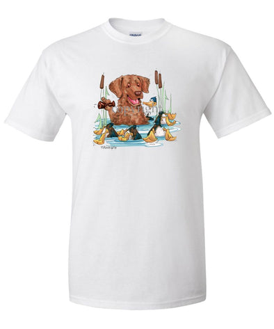 Chesapeake Bay Retriever - Duck Call - Caricature - T-Shirt
