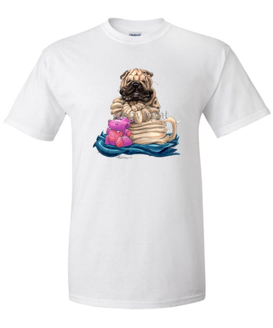 Shar Pei - Sitting Pillow - Caricature - T-Shirt