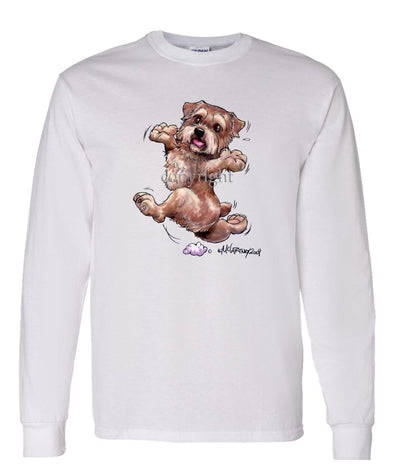 Norfolk Terrier - Happy Dog - Long Sleeve T-Shirt
