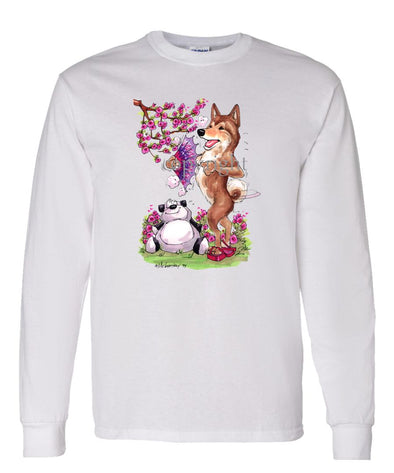 Shiba Inu - Panda Bear - Caricature - Long Sleeve T-Shirt