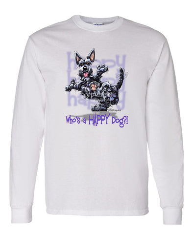 Scottish Terrier - Who's A Happy Dog - Long Sleeve T-Shirt