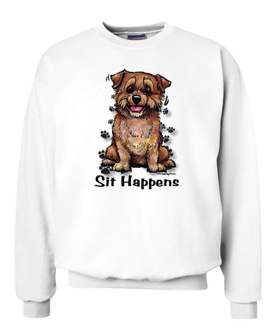 Norfolk Terrier - Sit Happens - Sweatshirt
