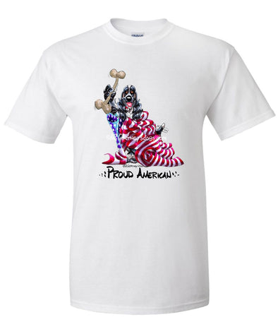 English Cocker Spaniel - Proud American - T-Shirt
