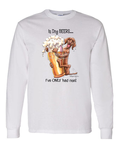 Vizsla - Dog Beers - Long Sleeve T-Shirt