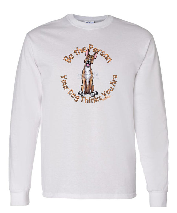 Basenji - Be The Person - Long Sleeve T-Shirt