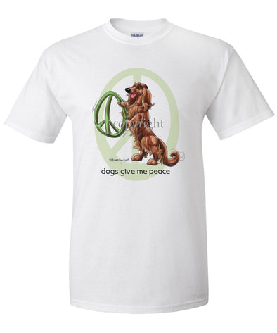 Dachshund  Longhaired - Peace Dogs - T-Shirt
