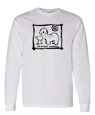 Old English Sheepdog - Cavern Canine - Long Sleeve T-Shirt