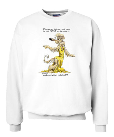 Afghan Hound - Best Dog in the World - Sweatshirt