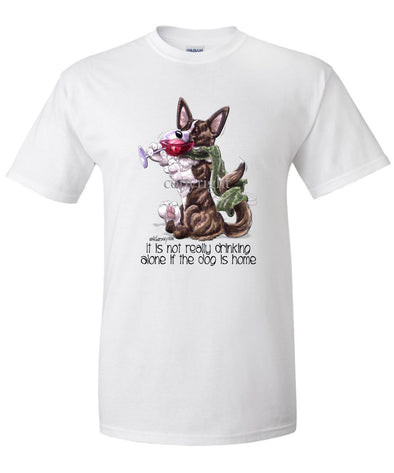 Welsh Corgi Cardigan - It's Not Drinking Alone - T-Shirt